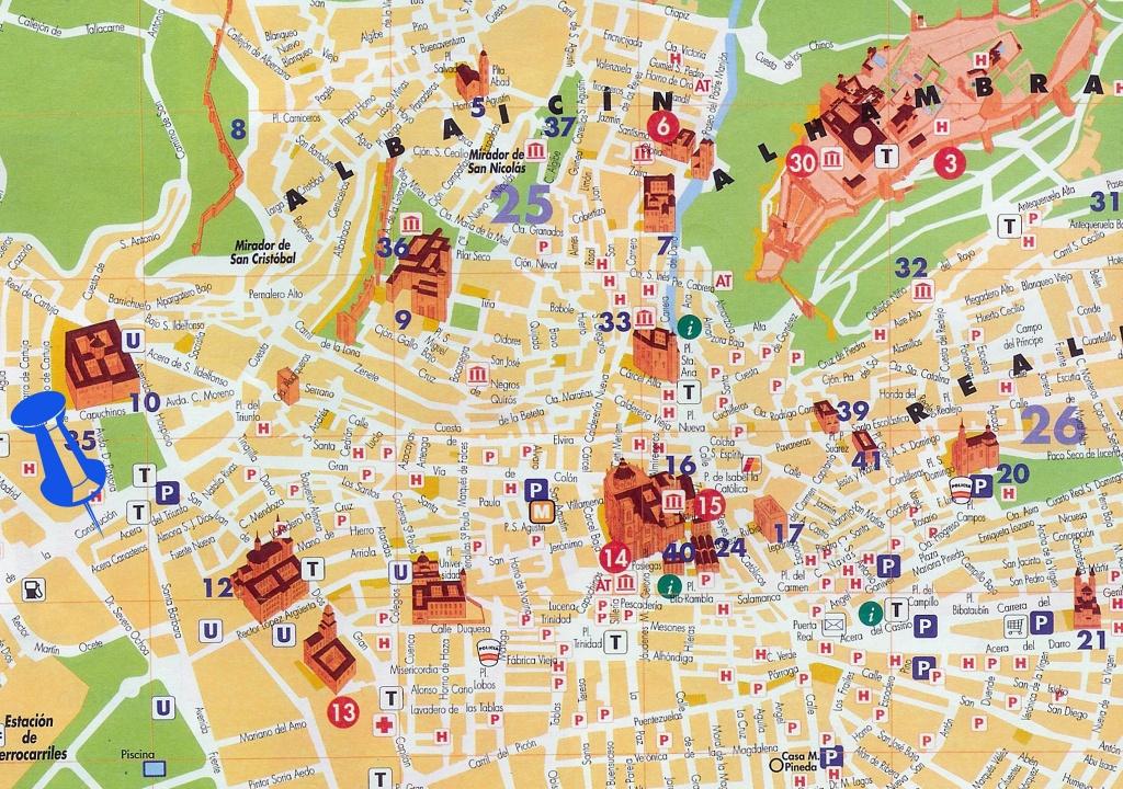 Mapa Turístico De Granada | Vacation | Map, Granada, Spain Travel - Printable Street Map Of Granada Spain
