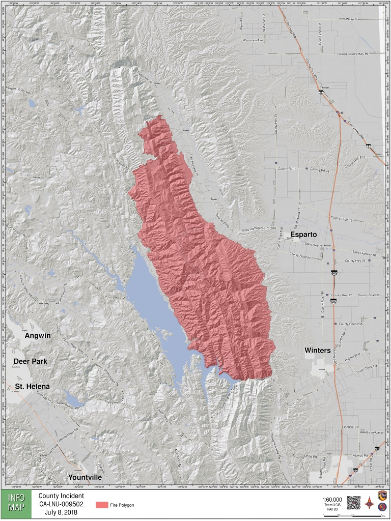 Maps: A Look At The 'county Fire' Burning In Yolo, Napa Counties - Where Are The Fires In California Right Now Map