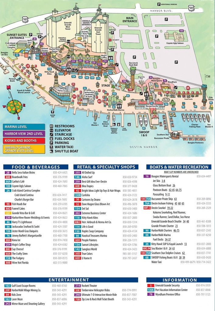Maps And Directions | Emerald Grande Destin Vacation Rentals - Map Of Destin Florida Attractions