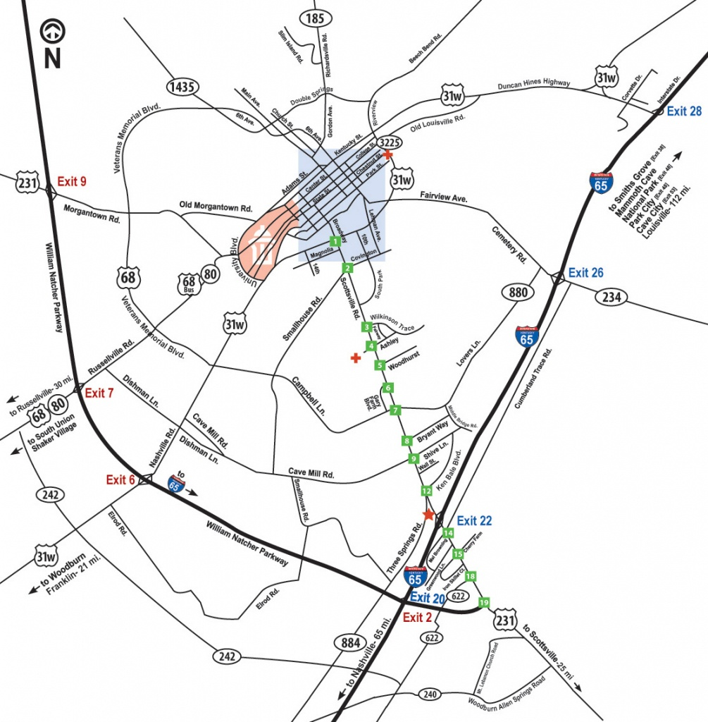 Maps And Directions | Getting Around Bowling Green Ky - Printable Map Of Bowling Green Ky
