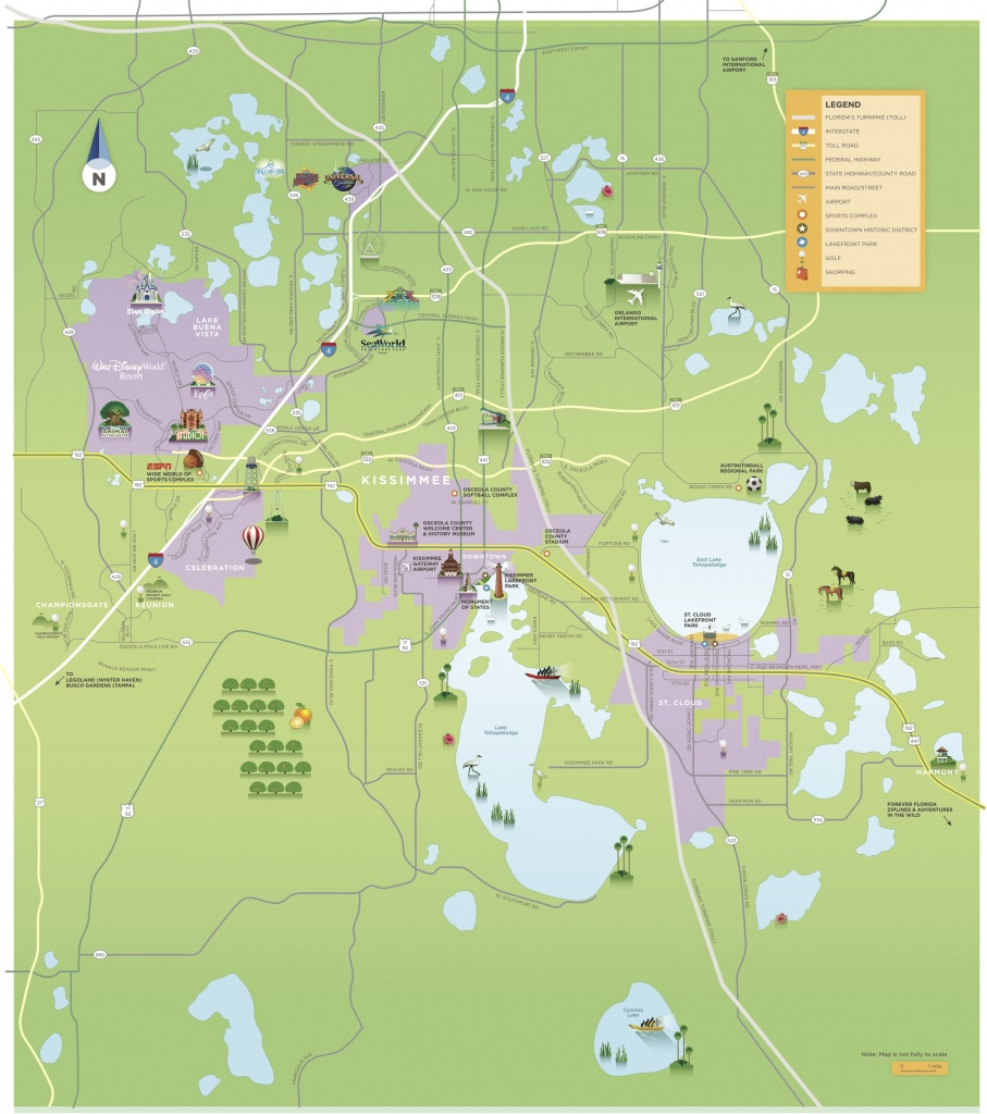 Maps & Area Guides | Experience Kissimmee - Florida Golf Courses Map