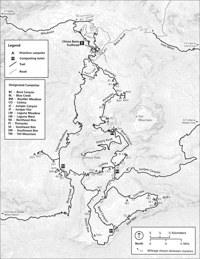 Maps - Big Bend National Park (U.s. National Park Service) - Big Bend National Park Map Texas