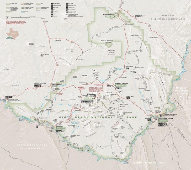 Texas Hiking Trails Map