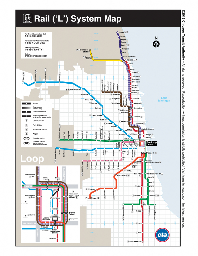 Maps - Cta - Chicago Loop Map Printable