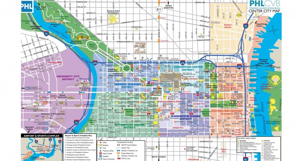 Maps & Directions - Printable Map Of Center City Philadelphia