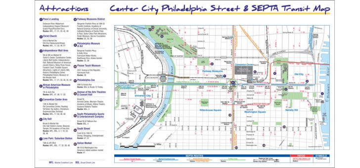 Printable Map Of Philadelphia Attractions