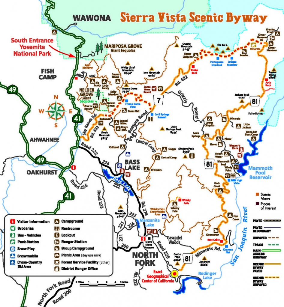 Maps & Directions — Sierra Vista Scenic Byway - Scenic Byways California Map