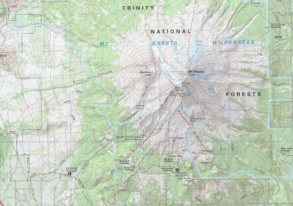 Maps | Hike Mt. Shasta - Mount Shasta California Map