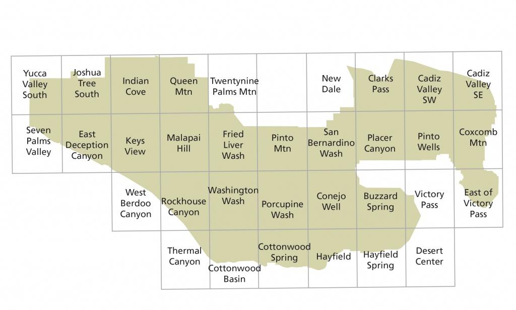Maps - Joshua Tree National Park (U.s. National Park Service) - Joshua Tree California Map