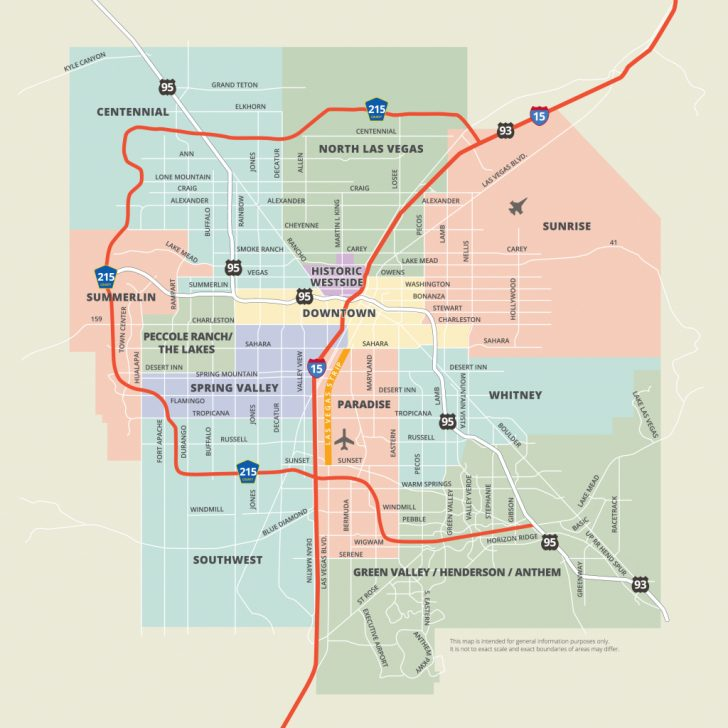 Las Vegas Printable Map