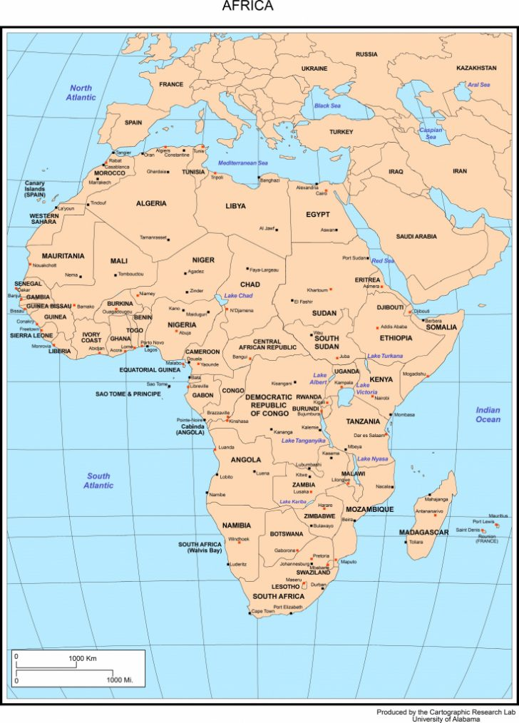 Free Printable Political Map Of Africa