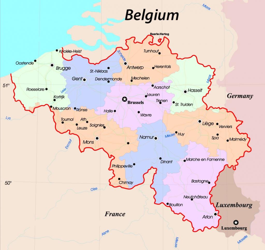 Maps Of Belgium | Detailed Map Of Belgium In English | Tourist Map - Printable Map Of Belgium