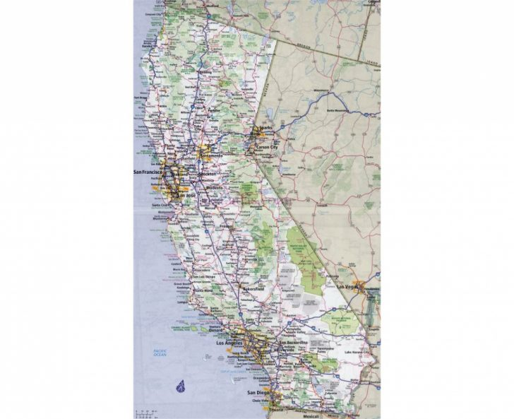 Large Detailed Map Of California