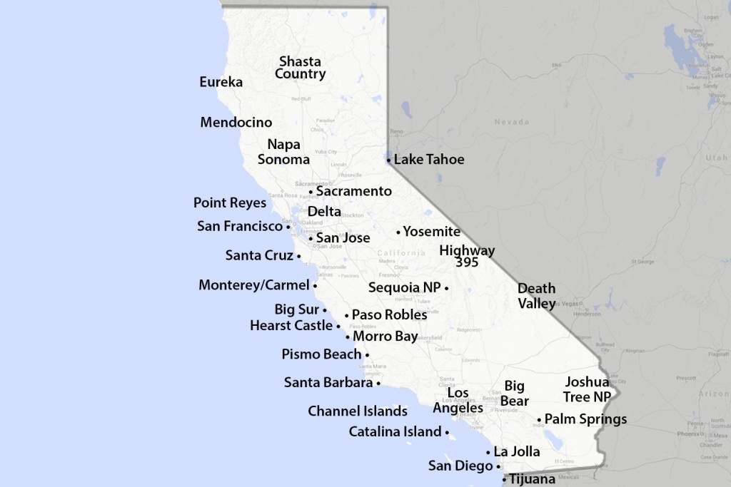 Maps Of California - Created For Visitors And Travelers - Pismo Beach California Map