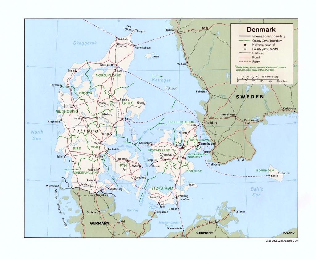 Maps Of Denmark | Detailed Map Of Denmark In English | Tourist Map - Printable Map Of Denmark
