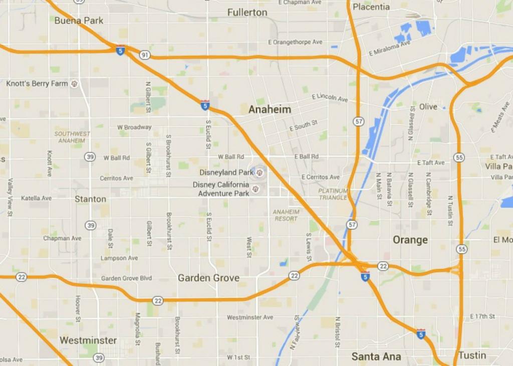 Maps Of Disneyland Resort In Anaheim, California - Anaheim California Map