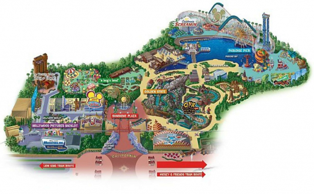 Maps Of Disneyland Resort In Anaheim, California - Disneyland California Map