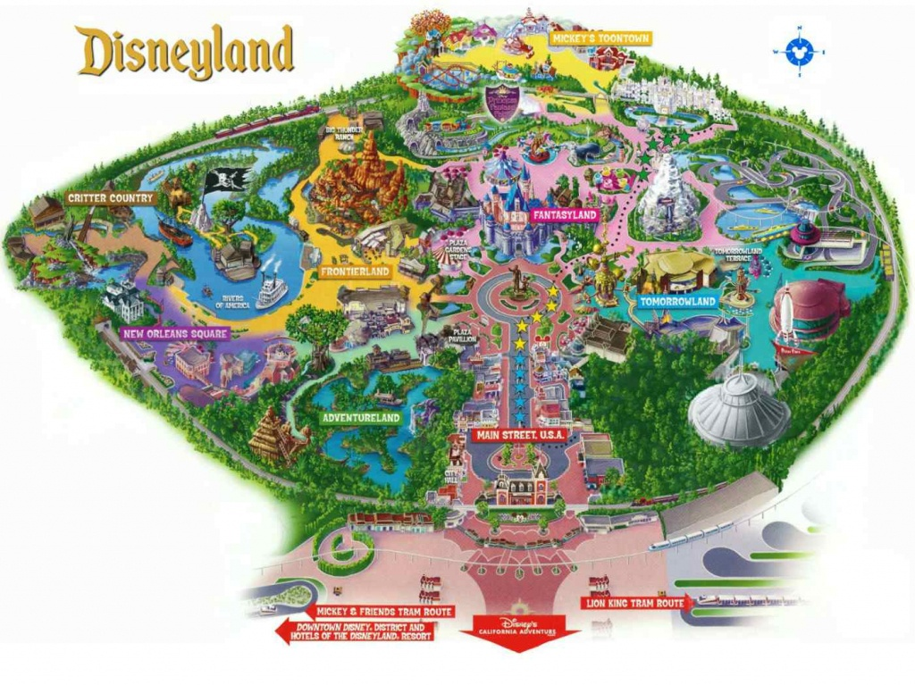 Maps Of Disneyland Resort In Anaheim, California - Disneyland Map 2018 California