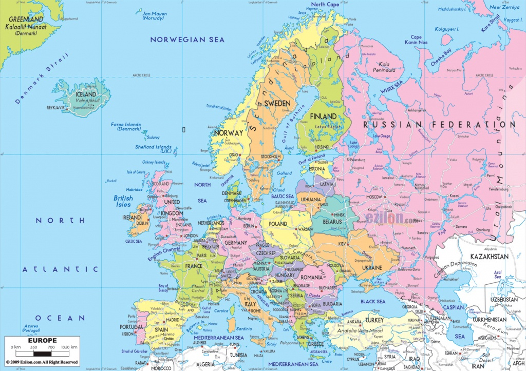Maps Of Europe | Map Of Europe In English | Political - Europe Map With Cities Printable