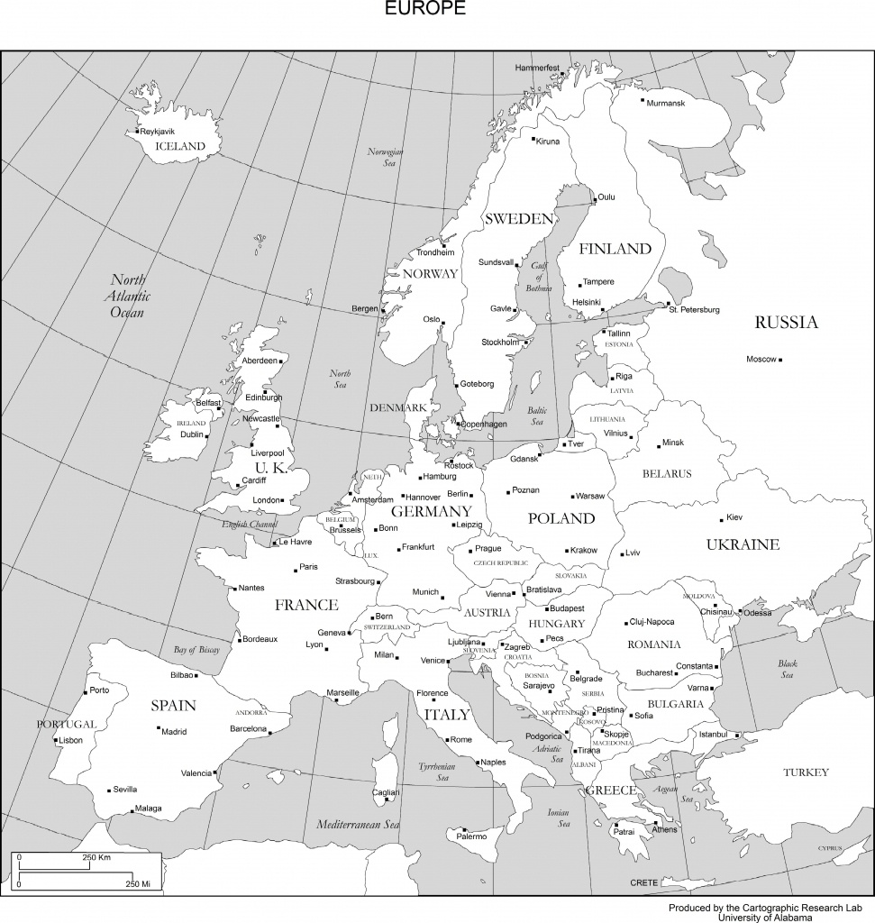 Maps Of Europe - Printable Map Of Europe With Capitals