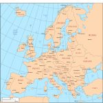 Maps Of Europe   Printable Map Of Europe With Major Cities