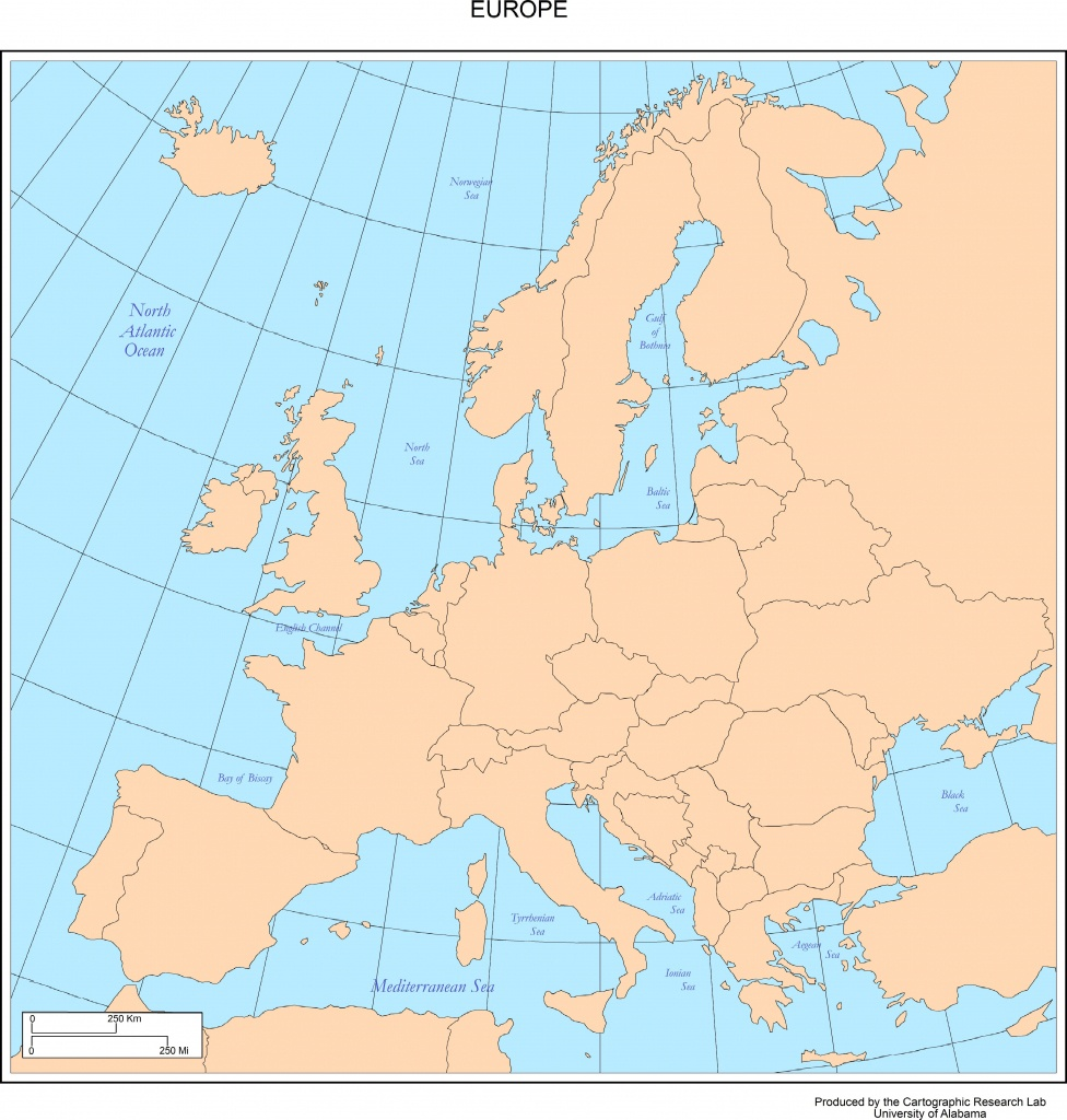 Maps Of Europe - Printable Political Map Of Europe