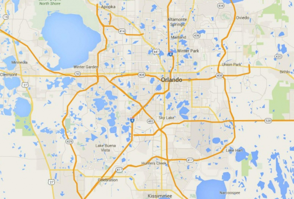Maps Of Florida: Orlando, Tampa, Miami, Keys, And More - Google Maps Davenport Florida