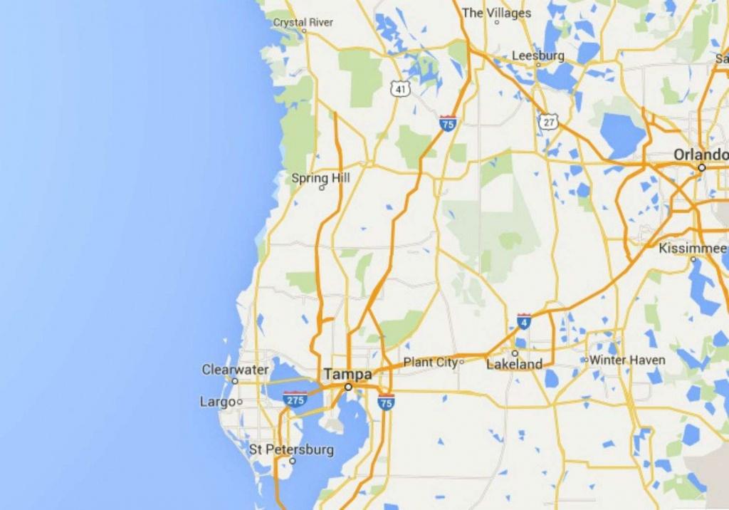 Maps Of Florida Orlando Tampa Miami Keys And More Google Maps - Google Maps Tampa Florida