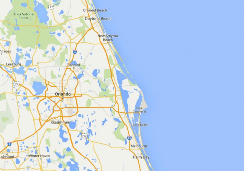 Maps Of Florida: Orlando, Tampa, Miami, Keys, And More - Google Maps Orlando Florida