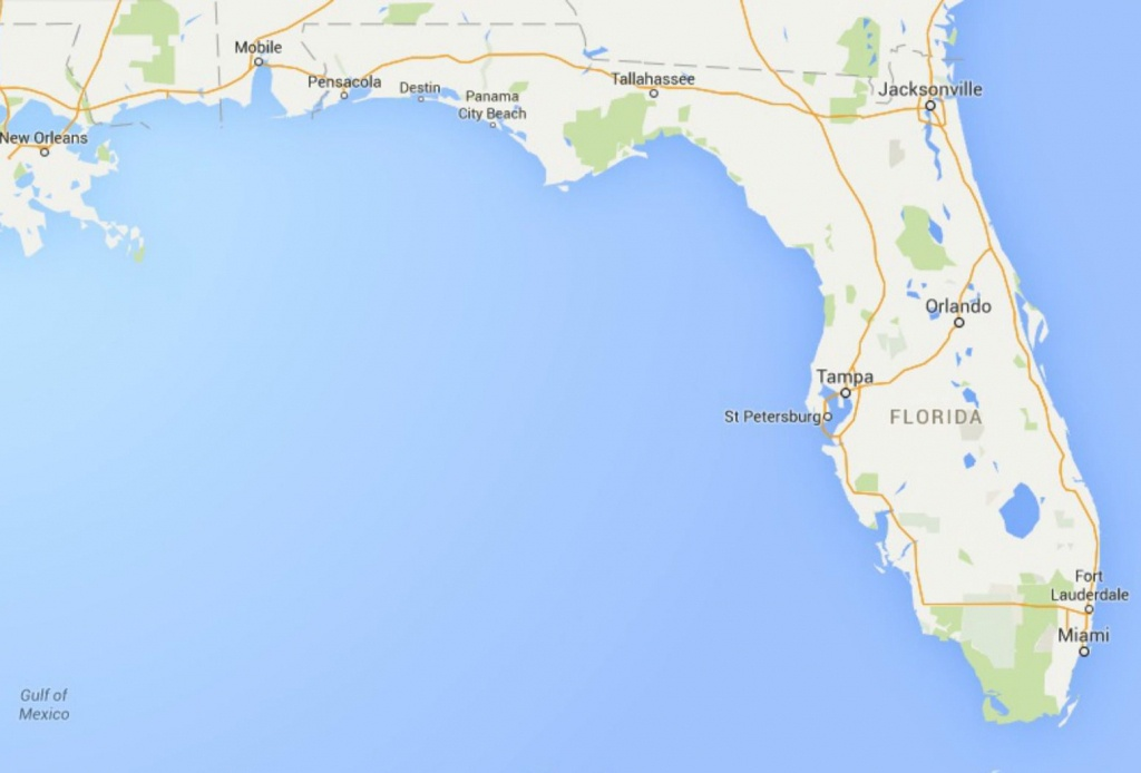 Maps Of Florida: Orlando, Tampa, Miami, Keys, And More - Google Maps Tampa Florida Usa