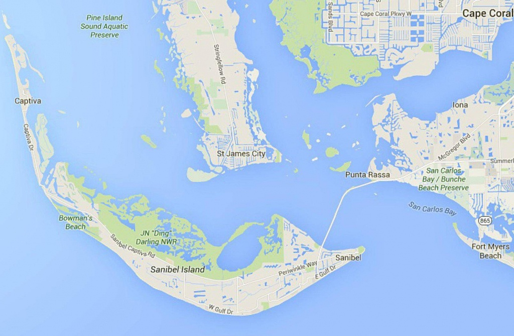 Maps Of Florida: Orlando, Tampa, Miami, Keys, And More - Sanibel Beach Florida Map
