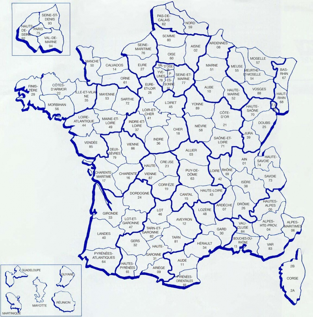 Maps Of France - Bonjourlafrance - Helpful Planning, French Adventure - Printable Map Of France With Cities And Towns