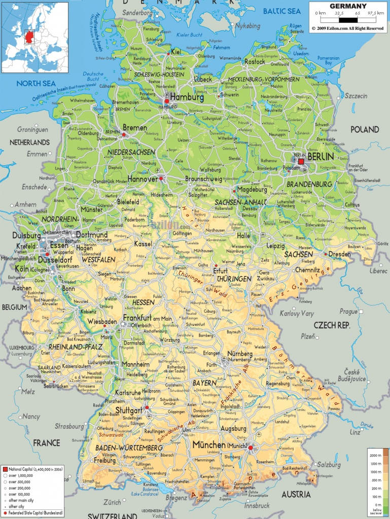 Maps Of Germany | Detailed Map Of Germany In English | Tourist Map - Large Printable Map Of Germany