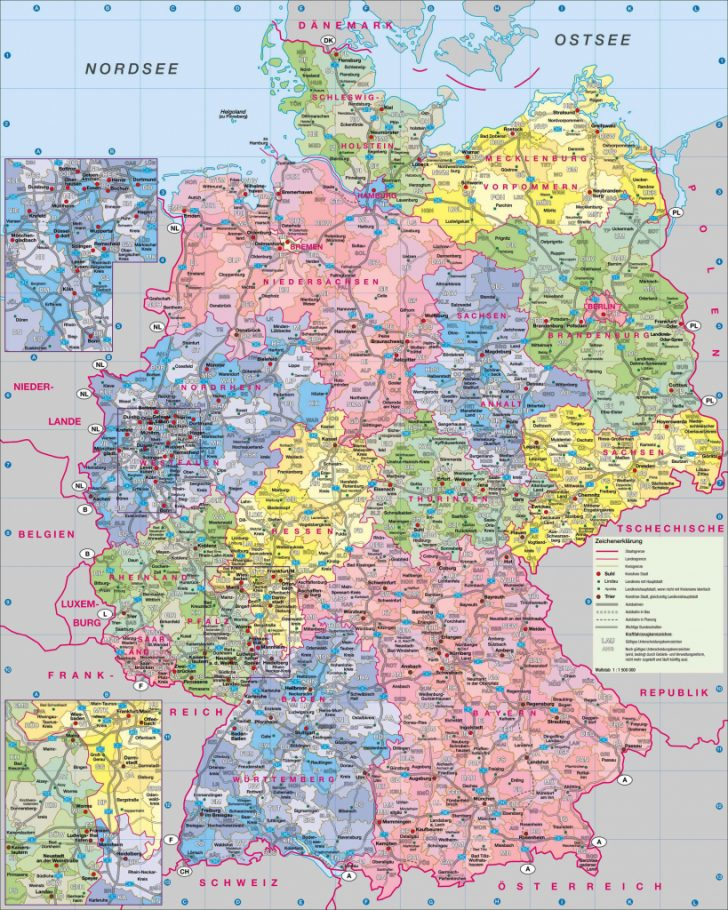 Printable Map Of Germany With Cities And Towns