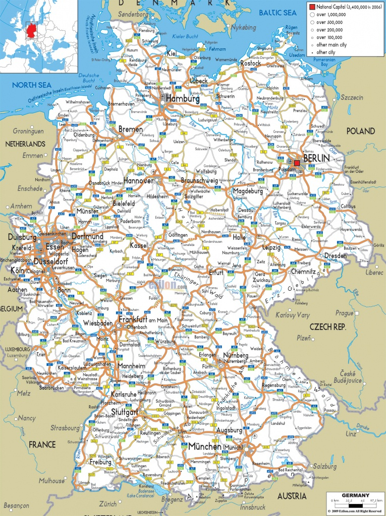Maps Of Germany   Detailed Map Of Germany In English   Tourist Map - Printable Map Of Germany