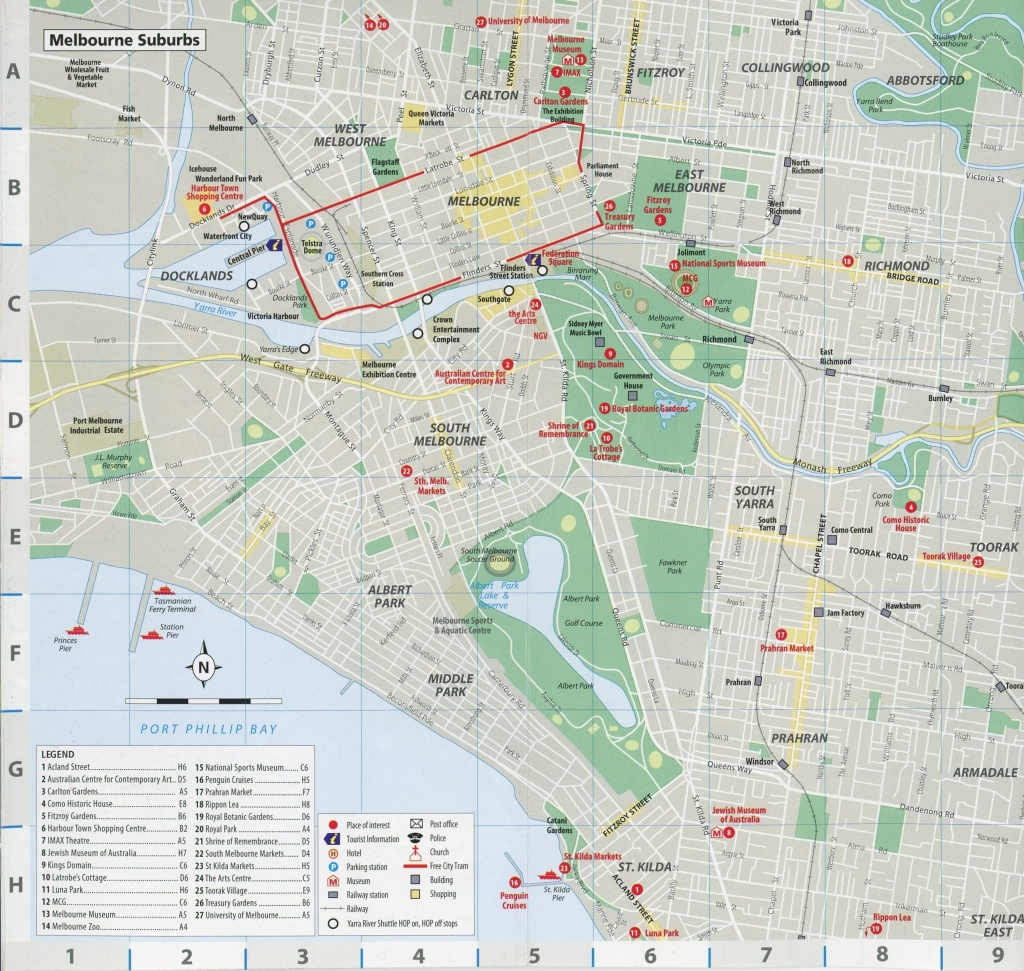 Maps Of Melbourne, Australia – I See American People (And Places) - Melbourne Cbd Map Printable