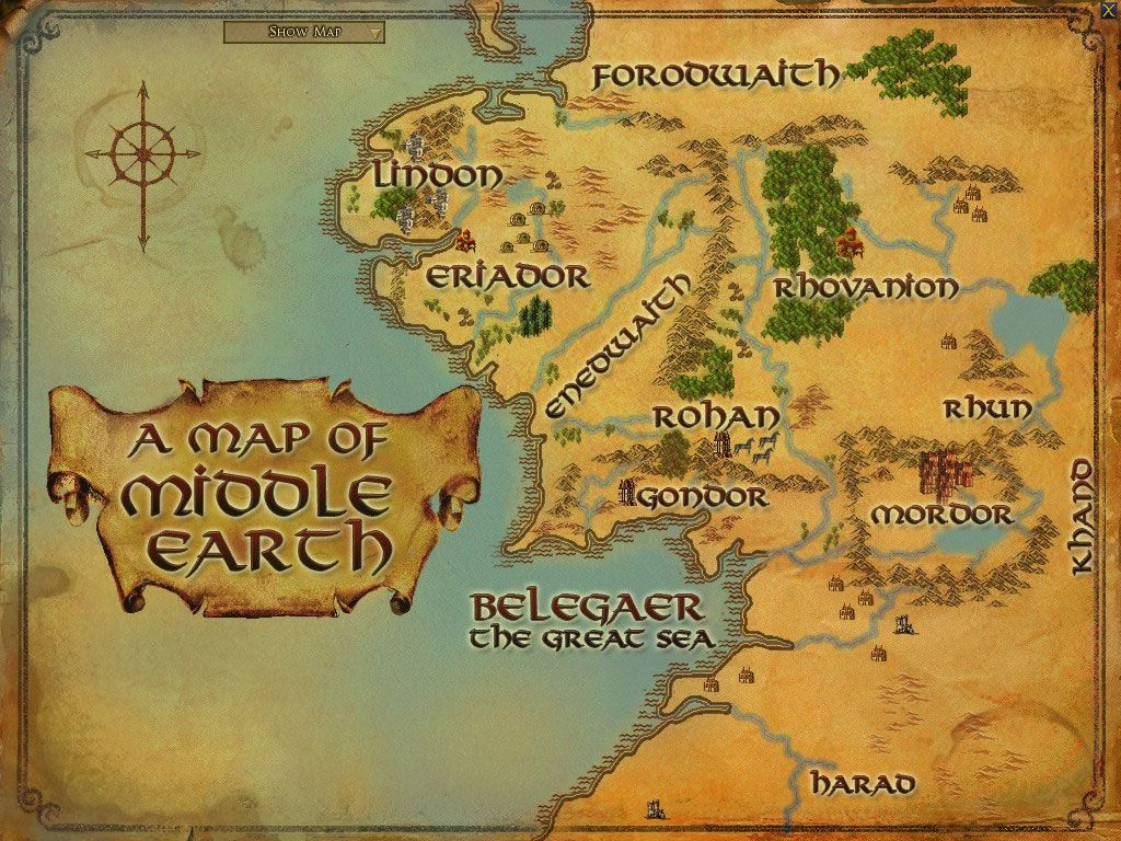 Maps Of Middle Earth   Middle Earth Printable Map   Lord Of The - Printable Hobbit Map