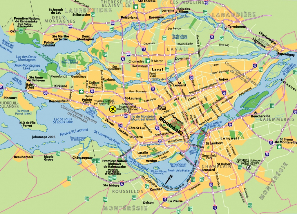 Maps Of Montreal - Johomaps - Printable Map Of Montreal