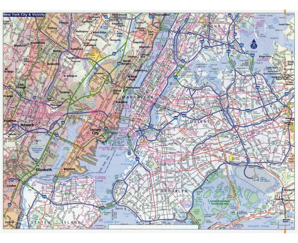 Maps Of New York | Collection Of Maps Of New York City | Usa (United - Road Map Of New York State Printable