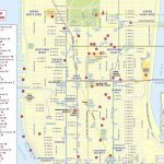 Maps Of New York Top Tourist Attractions   Free, Printable   Free Printable Map Of Manhattan