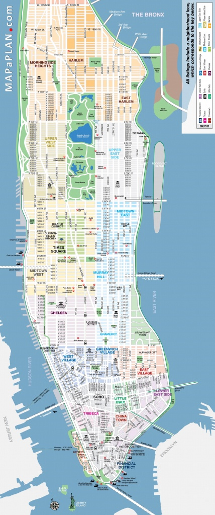 Maps Of New York Top Tourist Attractions - Free, Printable - Manhattan City Map Printable
