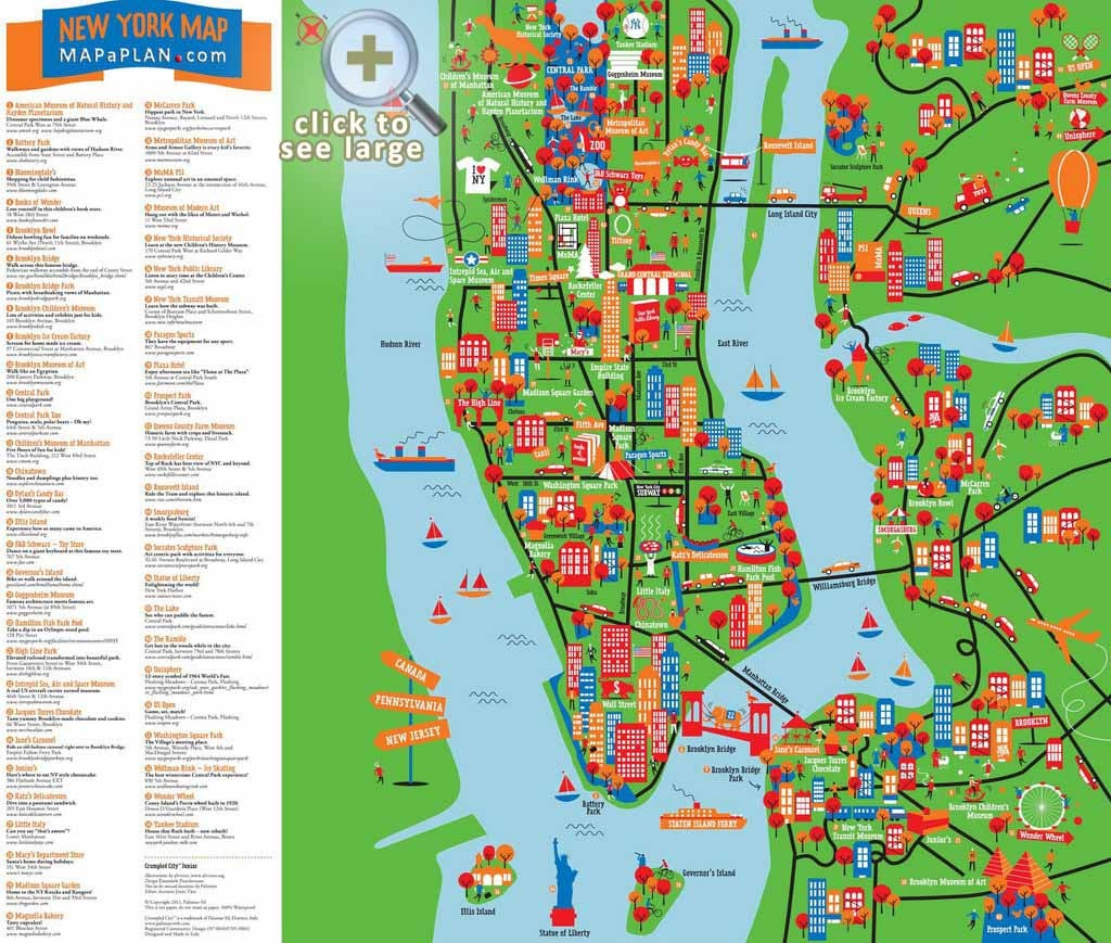 Maps Of New York Top Tourist Attractions - Free, Printable - New York Printable Map Pdf