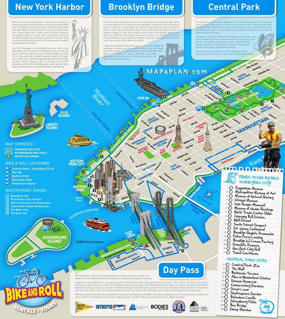 Maps Of New York Top Tourist Attractions - Free, Printable - New York Tourist Map Printable
