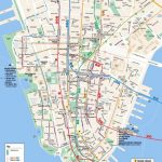 Maps Of New York Top Tourist Attractions   Free, Printable   Printable Map Manhattan Pdf