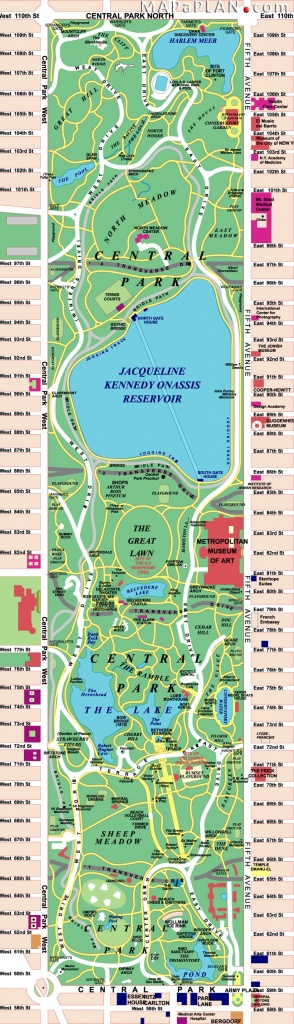 Maps Of New York Top Tourist Attractions - Free, Printable - Printable Map Of Central Park Nyc