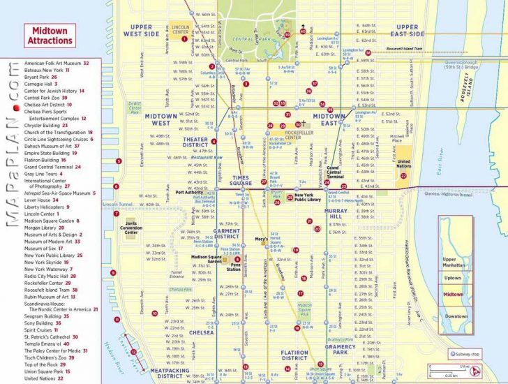 Printable Map Of New York