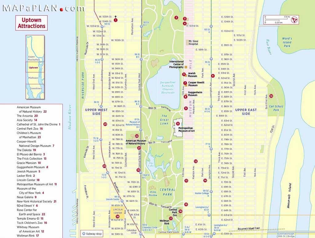 Maps Of New York Top Tourist Attractions - Free, Printable - Printable New York Street Map