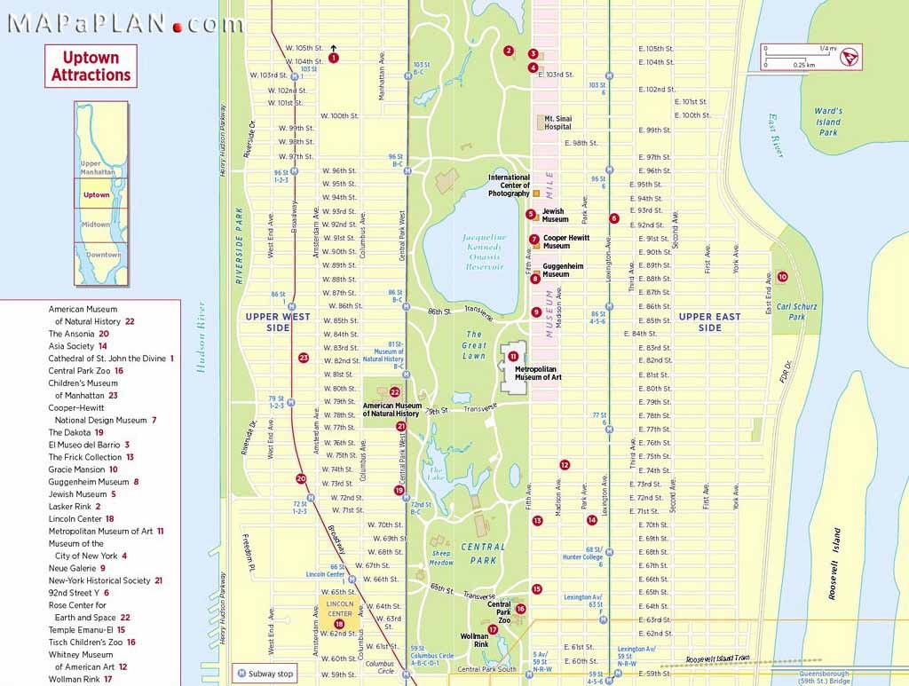 Maps Of New York Top Tourist Attractions - Free, Printable - Printable Street Map Of Manhattan