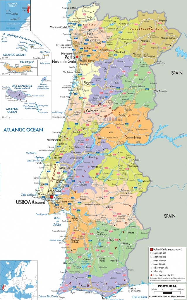 Maps Of Portugal | Detailed Map Of Portugal In English | Tourist Map - Printable Map Of Portugal