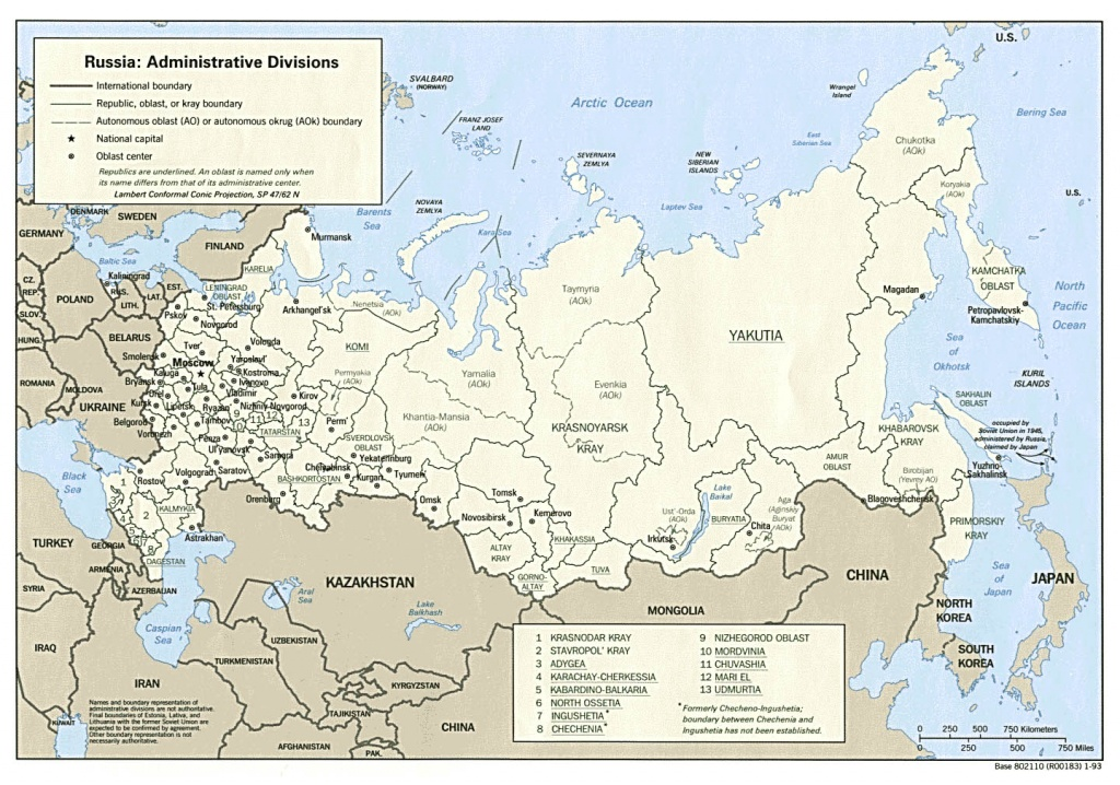 Maps Of Russia | Detailed Map Of Russia With Cities And Regions - Printable Map Of Russia